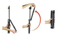反転式のトラベル三脚