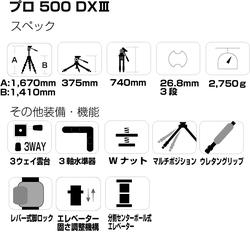 プロ 500 DX IIIのスペック